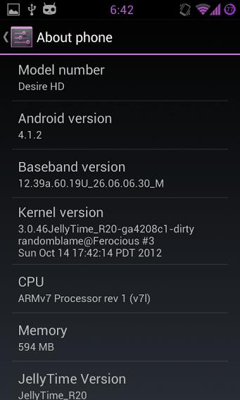 Jelly Bean auf dem HTC Desire HD